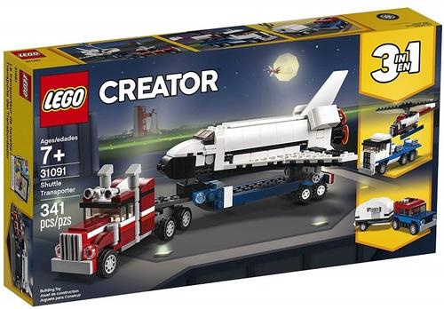 מעבורת חלל שלושה באחד 341 חלקים 31091 לגו LEGO