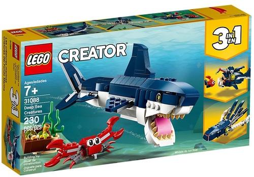 יצורי המים מהמעמקים שלושה באחד 230 חלקים 31088 לגו LEGO