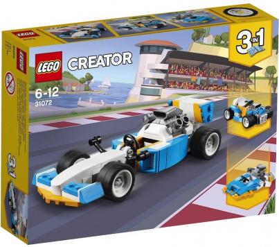 מכונית עם מנוע אקסטרים שלושה באחד 109 חלקים 31072 לגו LEGO