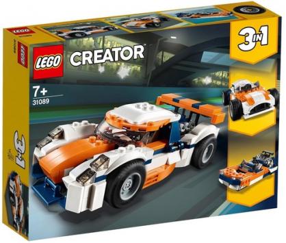 מרוצים בשקיעה שלושה באחד 221 חלקים 31089 לגו LEGO