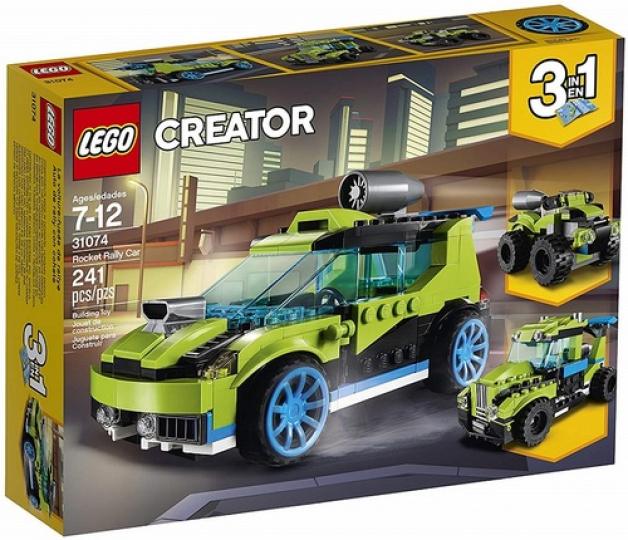 מכונית ראלי ירוקה שלושה באחד 241 חלקים 31074 לגו LEGO