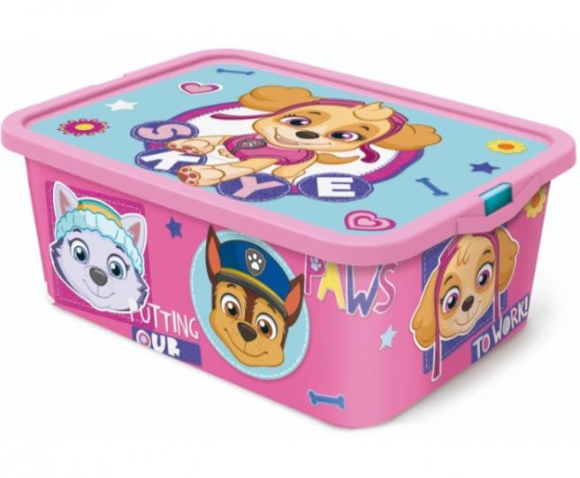 קופסת אחסון מפרץ הרפת בנות 13 ליטר