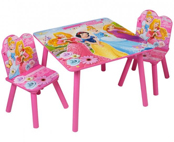סט שולחן ו2 כסא דגם נסיכות מרובע