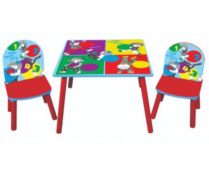 סט שולחן ו-2 כסאות 5 בלונים