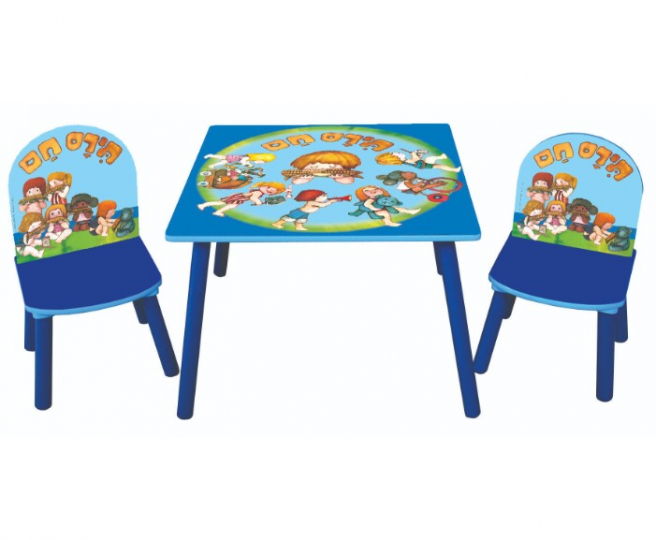 סט שולחן ו-2 כסאות תירס חם