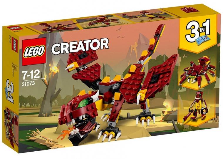 יצורים מיתולוגיים שלושה באחד 223 חלקים 31073 לגו LEGO