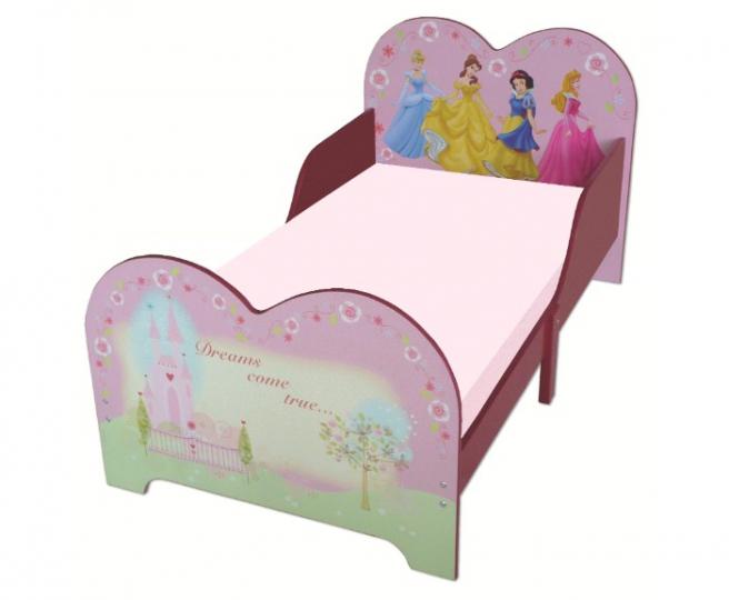 מיטת מעבר מעץ דגם נסיכות צבע ורודה